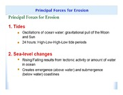 Principal Forces for Erosion