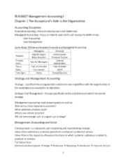BUSI0027 Management Accounting I Chapter 1