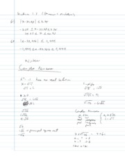 College Algebra Notes - 1.4 - Complex Numbers