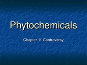 PUBH 1517 - (Chapter 11) Controversy & Phytochemicals
