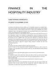 FINANCE IN THE HOSPITALITY INDUSTRY.wps
