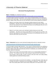 Retirement Worksheet