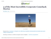 5 of the Most Incredible Corporate Comeback Stories
