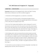 OCE_1001_Chapter_3_Homework_4_Topography