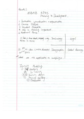training and development class notes