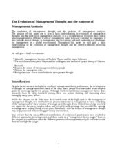 Assignment on evolution and Mgt thought updated