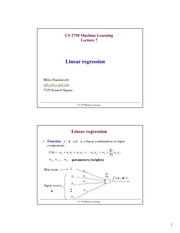 Lecture Notes on Linear Regression