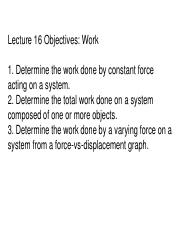 2ndLE Lecture 16 - R6 Work