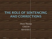 The_Role_of_Sentencing_in_Corrections