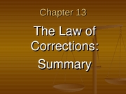 The Law of Corrections