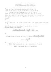 MATH 0C1 Spring 2012 Final Exam Solutions