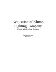 Acqusition of Klump