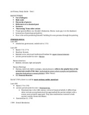Art History Study Guide – Test 1