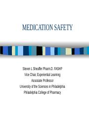 PP465 Med Safe fall 2014 Student Version