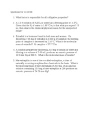Questions after collig prop lec