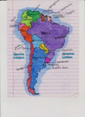 Latin America Map and country names