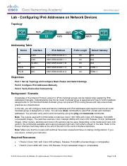7.2.5.4 Lab - Configuring IPv6 Addresses on Network Devices.pdf