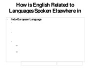 geog_How is English Related to Languages Spoken Elsewhere