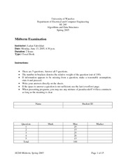 SE-240-Midterm_exam and solutions 2005 spring