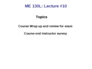 Review for Exam and Course Wrapup