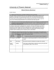 ethical dilemma worksheet prosecutors For more classes visit wwwsnaptutorialcom review the corrections scenario document complete ethical dilemma worksheet.