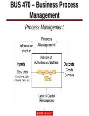 8 pages bus 470 notes for process managementppt - Business Process Mapping Ppt