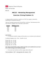 MK 14 -Pricing Case - Problem _1.docx