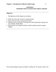 Chapter 1 Introduction to Effective Small Groups with Case Study