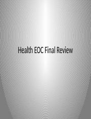 Health EOC Final Review