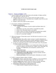 WOMS 202 EXAM II Study Guide