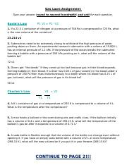 Gas Law Assignment (1)