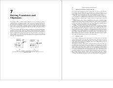Chapter 7old Transisor and Thyristors