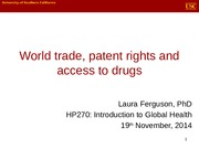 World Trade and Access to Med(1)