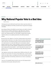 Curtis Gans - Why National Popular Vote Is a Bad Idea | The Huffington Post
