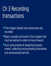 Ch 3 Transactions and the Accounting Equation.ppt