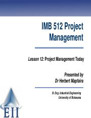 Lesson 12 Project Management Today(1).pdf