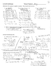 series and sequences solutions
