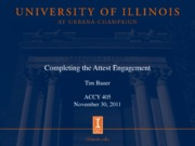Completing the Attest Engagement Nov. 30