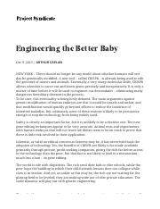Engineering the Better Baby by Arthur Caplan - Project Syndicate.pdf