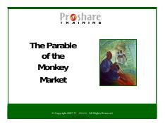 THE Parable Of The Monkey Market