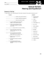 Review Sheet 25-  Special Senses Hearing and Equilibrium