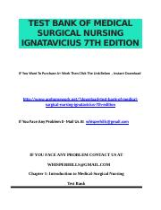 Test Bank of Medical surgical nursing ignatavicius 7th edition