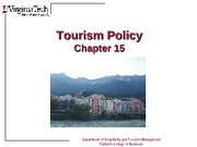 Chapter+15+Tourism+Policy