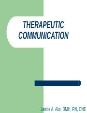THERAPEUTIC COMMUNICATION.ppt