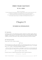 Chap 9 Numerical Integration