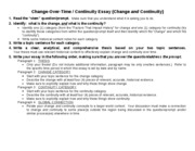 Change&Continuity Directions, Scaffold, & Rubric