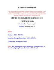 Accounting Clinic Information