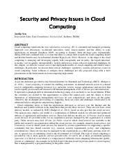 Microsoft Word - Security and Privacy Issues in Cloud Computing_Final