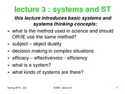 6-lecture 3-2010 systems and ST