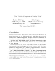 The Political Impact of Media Bias